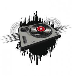 disco player vector image vector image