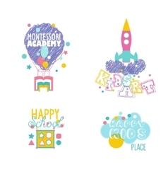 Early educational kindergarten school art vector image vector image