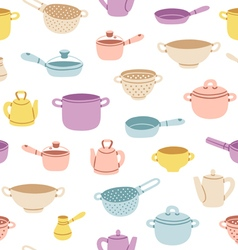 Kitchenware colorful seamless pattern vector image