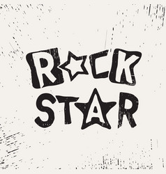 rock star grunge text vector image