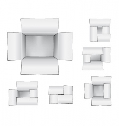 shipping cartons vector image vector image