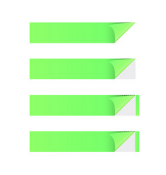 sticker banner green vector image