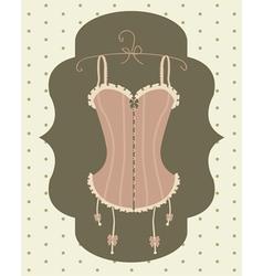 vintage corset vector image vector image