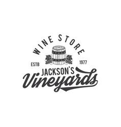 wine shop logo label organic winesvineyard vector image vector image