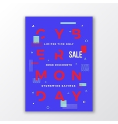 Abstract Cyber Monday Sale Poster Minimal vector image vector image