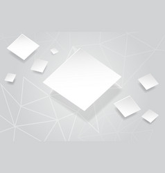abstract white background with white square vector image