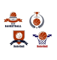 Basketball team emblems or symbols vector