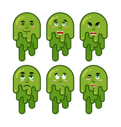 booger emotions set cheerful and sad snot evil vector image vector image
