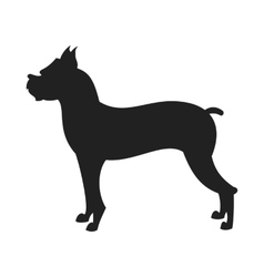 Boxer dog Black Silhouette vector image vector image