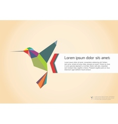 Abstract Colibri vector image