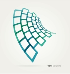 Abstract wave shapes template vector image vector image