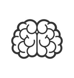 Brain Logo Icon on White Background vector image vector image