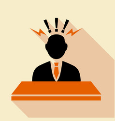 Consulting agent information stand icon vector