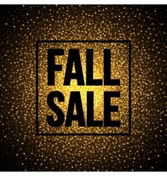 Fall sale banner design on a sparkling shiny vector image vector image