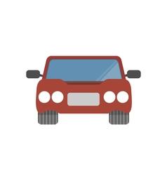 Flat design simple car vector image vector image