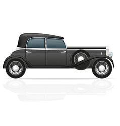 old retro car 02 vector image