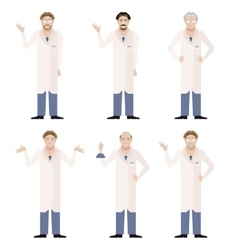 Set of Scientists vector image