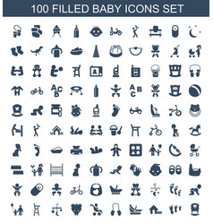 100 baicons vector