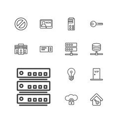 13 access icons vector