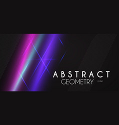 abstract background with neon blurred lights line vector image