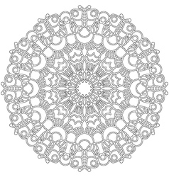 adult coloring book spring mandala black and white vector image