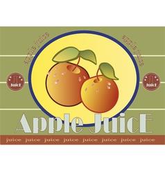 apple juice label vector image