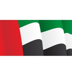 Background with waving UAE Flag vector image