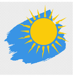 banner yellow sun blob isolated transparent vector image