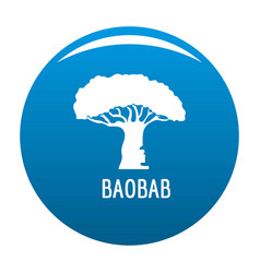 baobab tree icon blue vector image