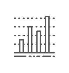 chart business graph data diagram line icon vector image