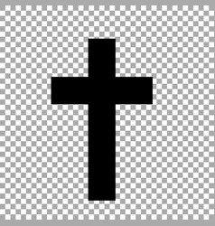 Christian cross isolated on transparent vector
