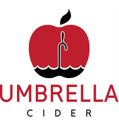 cider with apple and umbrella vector image