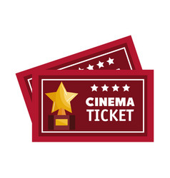 cinema ticket isolated icon vector image