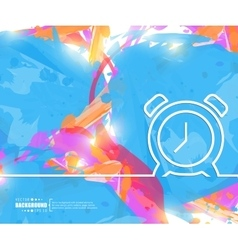 Creative alarm clock Art vector