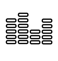 digital sound icon vector image
