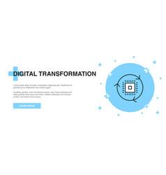 digital transformation icon banner outline vector image