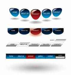 editable glossy website buttons template vector image