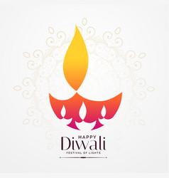 Elegant diwali festival diya creative design vector