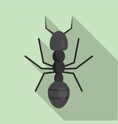 Farmer ant icon flat style vector
