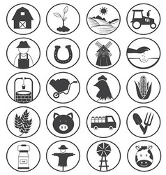 Farming Icons Collection vector image