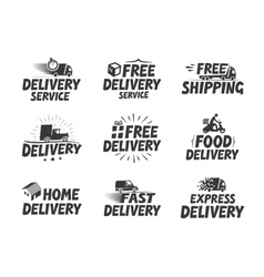 Fast delivery set icons Free shipping symbol vector