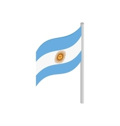 Flag of Argentina icon isometric 3d style vector image