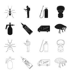 flea special car and equipment blackoutline vector image