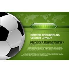 football world green layout vector image