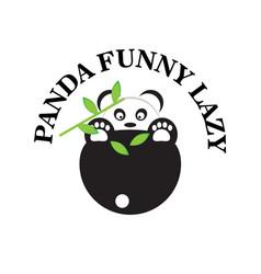 funny panda vector image