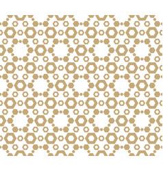 Golden luxury honeycomb seamless pattern vector
