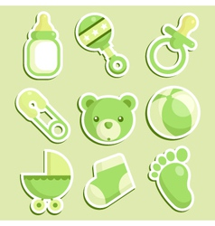 Green bashower icons vector