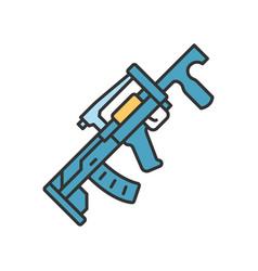 Groza weapon color icon virtual video game vector