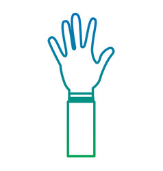 Hand wearing glove icon image vector