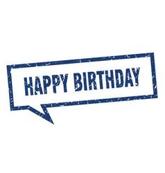 Happy birthday sign happy birthday square speech vector